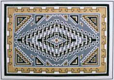 "Daisy Taugelchee was a renown Navajo master weaver who's work has won numerous awards as well as a commemorative US postage stamp.  Available as a chart or a kit, which includes the chart, 14 count Aida cloth, needle and floss. Finished design size is  9 1/4"" x 13 1/4""."