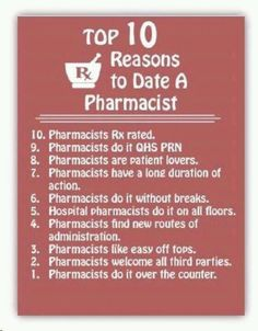 Only someone in pharmacy will think this is funny