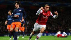 Lukas Podolski (Arsenal FC) - Arsenal vs Montpellier 2-0 - UEFA Champions League 2012/2013