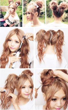 I love buns like these! This might be the only thing keeping me from cutting my hair short