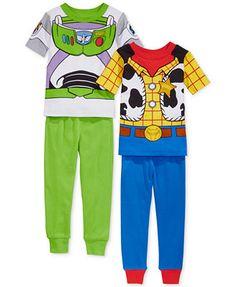 AME Toddler Boys' 4-Piece Toy Story Pajamas