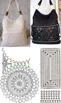DIY: Inspire in these beautiful 21 crochet pockets # 2 ⋆ From front to toe . - DIY: Inspire in these beautiful 21 crochet pockets # 2 ⋆ From front to toe . Free Crochet Bag, Crochet Pouch, Crochet Bags, Crochet Handbags, Crochet Purses, Purse Patterns, Crochet Patterns, Crochet Diagram, Diy Crafts Crochet