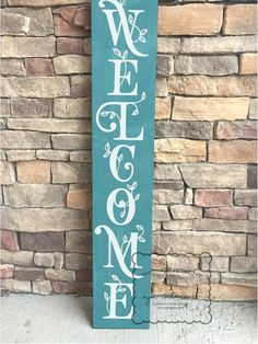 Welcome sign spring welcome sign front porch sign welcome sign for front porch front door sign welcome entryway sign welcome Welcome Signs Front Door, Wooden Welcome Signs, Front Porch Signs, Front Door Entrance, Front Door Decor, Wooden Signs, Door Entryway, Entryway Ideas, Front Doors