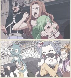 Evergreen cheering for Elfman and Levy cheering for Gajeel... Notice the similarity? lol