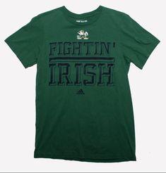 Notre Dame Fightin' Irish Adidas Green T Shirt Adult Size Small - Notre Dame Fightin' Irish Adidas Green T Shirt Adult Size Small Love Clothing, Clothing Items, College T Shirts, Adidas Shirt, T Shirts With Sayings, Cool Items, Notre Dame, Cool T Shirts, Irish