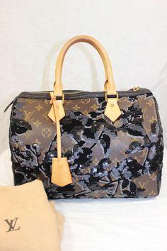 Authentic Louis Vuitton Handbag Fleur De Jais Speedy 30 Limited Edition #LouisVuitton #HandbagPurse