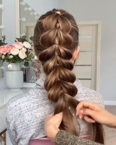 For more braid video tutorials just visit our website! Related Bob Haircut Trends 201957 Amazing Braided Hairstyles for Long Hair for Every Occasion African Braids Hairstyles, Pretty Hairstyles, Girl Hairstyles, Braided Hairstyles, Hairstyle Ideas, Goddess Hairstyles, Style Hairstyle, Cool Braids, Hair Videos