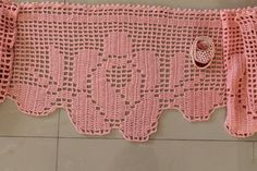 Roses Cashmere Pink Crochet Wrap Shawl with by levintovich