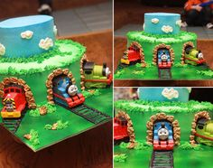 Thomas Tank Cake.... I have to remember this!!!! for cayman!