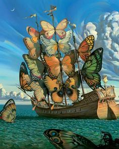 Welcome to the world of Vladimir Kush, where myth, metaphor and poetry combine in new forms. Through the juxtaposition of previously unrelated objects and the exploration of different viewpoints, the Vladimir Kush's work makes reference to deeper meanings and metaphors, while still maintaining its realistic approach to representation, a style Kush refers to as Metaphorical Realism.