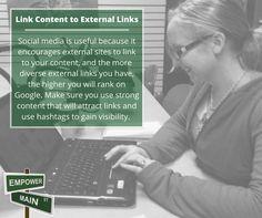 Marketing Tip - Link Content to External Links #EmpowerMainStreet #DigitalMarketing #LocalsHelpingLocals #BeEmpowered