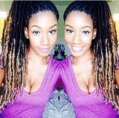 Faux locs #dreads Protective style Follow for more styles http://www.yeahsexyweaves.tumblr.com