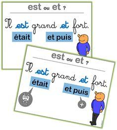 Affiches sur les homophones: EST / ET