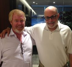 Brent Bozell and Mark Levin at the office of the Media Research Center on July 29, 2013