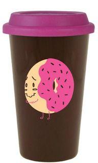 vessel drinkware - donut shop reusable coffee mug