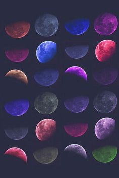 Phases of the moon. From we heart it.