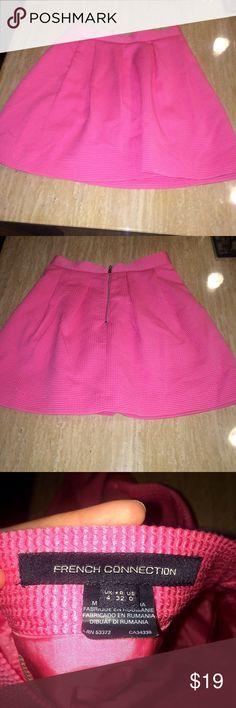French connection Pink Skater Skirt Super cute Pink French Connection shirt. matches perfectly with practically any top. I LOVE the material. French Connection Skirts Mini