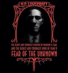 HP Lovecraft Fear of the Unknown, unisex tshirt, size Hp Lovecraft, Lovecraft Cthulhu, Necronomicon Lovecraft, Yog Sothoth, Call Of Cthulhu Rpg, Lovecraftian Horror, Horror Fiction, Horror Books, Horror Films
