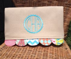 Monogrammed Scallop Caty Clutch by peppermintbee on Etsy, $48.00