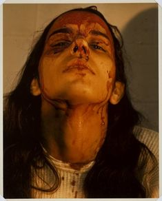 Untitled (Self-Portrait with Blood) — Ana Mendieta, 1973