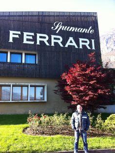 Io alla azienda Ferrari dei F.lli Lunelli