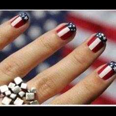 DIY stars and stripes nails nail art