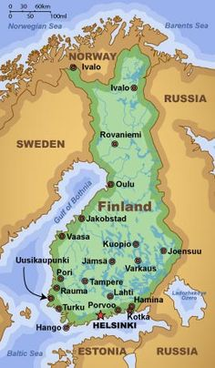 Map of Finland.