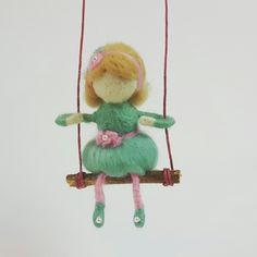 Needle felted girl #Childhoodin.me #waldorfinspired