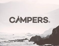 Love this logotype! The little tent is such an awesome touch and the typeface has great lines.