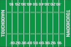 Spruce up your football fans room with this fun decal! Want to make your own football field on the wall? These decals are for you! Simply paint your wall green and apply the decals. This listing includes the numbers needed to make a full football field.