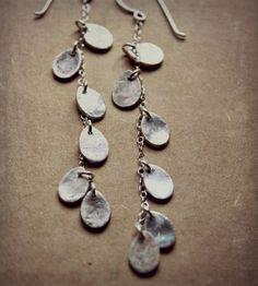 Silver Teardrop Chandelier Earrings | Caprichosa Jewelry
