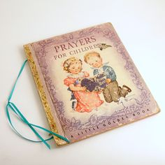 Vintage Childrens Book Childrens Book of Prayers by efinegifts on Etsy