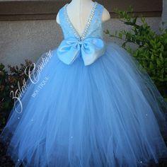 Flower Girl Dress Lace Dress Big Bow Dress by ZulettCouture