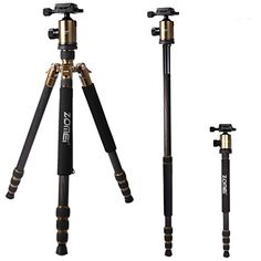 Introducing Zomei Portable Carbon Fiber Camera Tripod With Ball Head Pocket Z818C Gold. Great product and follow us for more updates!