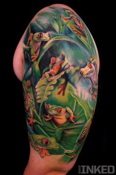 Stefano Alcantara InkedMagazine frogs tattoo