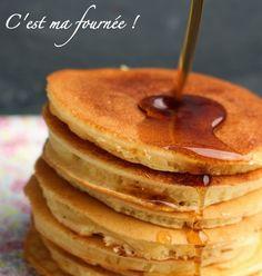 "The ""old fashioned pancakes"" by Martha Stewart (C'est ma fournée ! Recettes Martha Stewart, Martha Stewart Pancakes, Martha Stewart Recipes, Lemon Blueberry Pancakes, Buttermilk Pancakes Fluffy, Pancakes Easy, Pate A Pancake, German Pancakes Recipe, Flat Cakes"