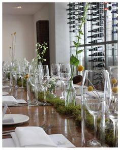 Wedding table setting from Wedding table settings from Biota Restaraunt