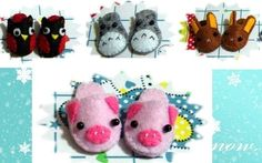 Doll Slippers, Pink Piggy Slippers, Lati Yellow Slippers, Pukifee slippers, Blythe Slippers, lati yellow shoes, blythe shoes