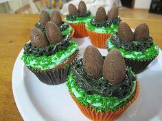 Ninho de ovinhos de chocolate para a Páscoa.
