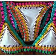 Resultado de imagen para modelos de da modabiquini em croche Crochet Lace Edging, Love Crochet, Filet Crochet, Knit Crochet, Crochet Shorts, Crochet Crop Top, Crochet Bikini, Crochet Butterfly, Women's Swimwear