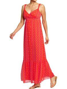 Old Navy | Women's Smocked-Chiffon Tiered Maxi Dresses