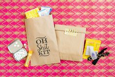 Oh Shit Kit Bags  Paper Bag Hangover Kit  by becollective on Etsy
