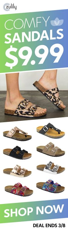 d011d7a689 Sign up to shop comfy sandals for  9.99. The sun s shining and we re