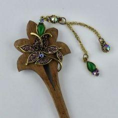 Pic à chignon Lotus - Pics à chignons - Bijoux et accessoires cheveux - Eclats de Cristal