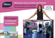 Salon de l'habitat de Nantes, votre constructeur de maison Alliance Construction y sera ! Nous vous accueillons du 8 au 11 nov. pour vous faire découvrir nos offres Terrain + Maison en Loire atlantique. http://www.allianceconstruction.fr/pack-terrain-plus-maison/pack-terrain-plus-maison-loire-atlantique.html