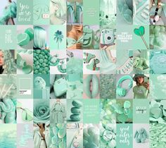 Mint Green Wallpaper Iphone, Frog Wallpaper, Color Collage, Photo Wall Collage, Iphone Wallpaper Tumblr Aesthetic, Aesthetic Wallpapers, Mint Green Aesthetic, Mint Green Walls, Color Menta