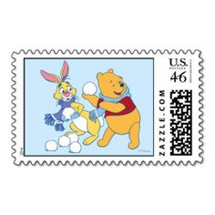 Winnie the Pooh, Rabbit, Disney Christmas Postage Stamps | http://shoppingwithadam.com/disney-christmas-postage-stamps/