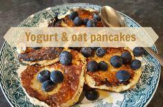 Yogurt & oat pancakes | Recipe (Slimming World friendly) :http://www.staceyinthesticks.com/2016/02/recipe-yogurt-oat-pancakes.html