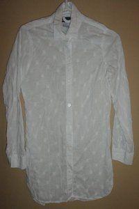 $29.95 Women's Tommy Bahama Geometric Print Long Button Down Tunic Shirt Size: Small