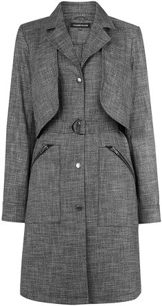 Womens grey duster from Warehouse - £79 at ClothingByColour.com